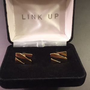Golden men's cufflinks